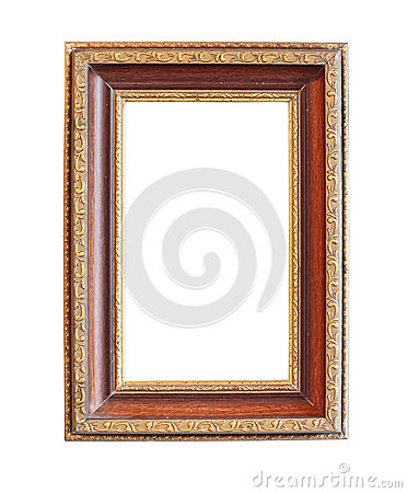 Vintage wood photo frame