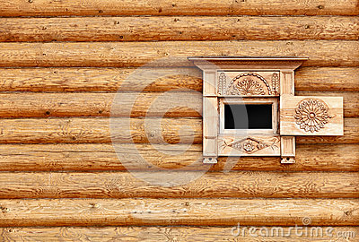Vintage wooden wall with window