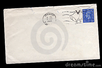 Vintage World War Two envelope