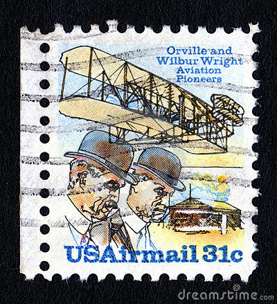 Vintage Wright Brothers Postage Stamp