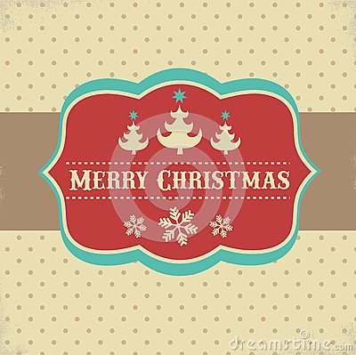 Vintage Xmas greeting card and background