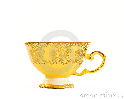 Vintage yellow teacup