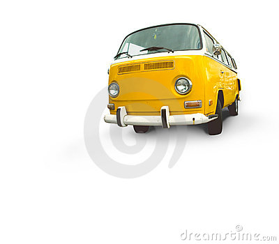 Vintage yellow van