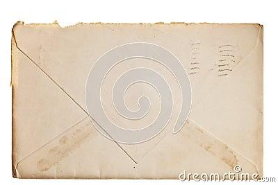Vintage yellowed envelope