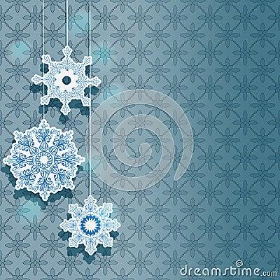 Vinterbakgrund för feriedesign