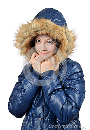 Vinterstående av flickan