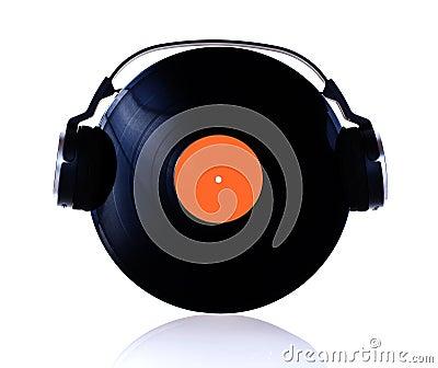 Vinyl with headphones