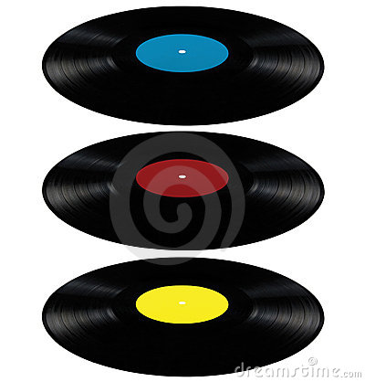 Vinyl lp record album disc long play disk red blue