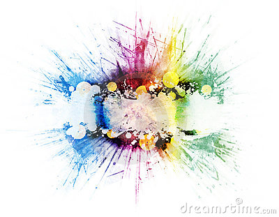 Vinyl music rainbow explosion design