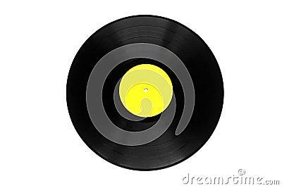 Vinyl plate isolated