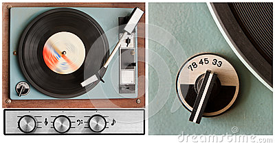 Vinyl player and controls