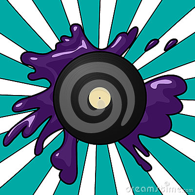 Vinyl pop background