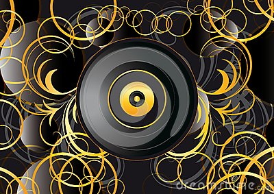 Vinyl record abstract background