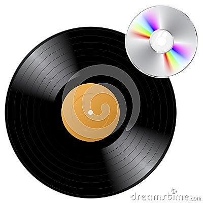 Free Vinyl Record And CD Royalty Free Stock Photo - 6644645