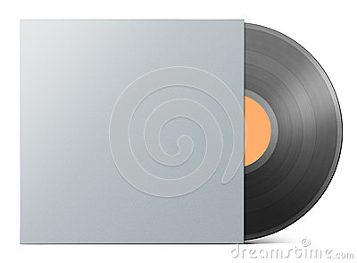 Vinyl record in blank cover envelope