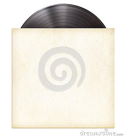 Free Vinyl Record Disc LP In Paper Sleeve Stock Photo - 34175690