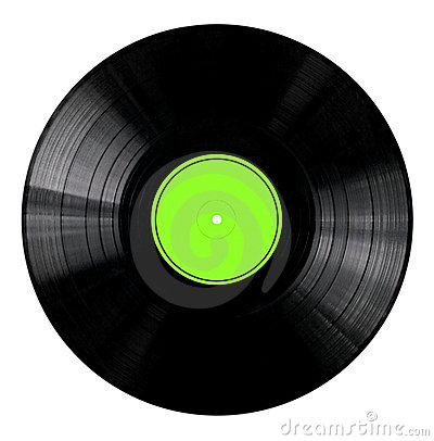 Vinyl Record with Green Label