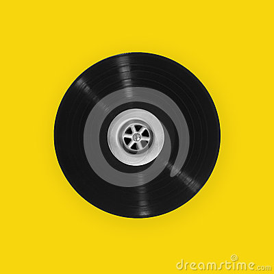 Vinyl record with plughole