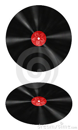 Free Vinyl Record With Red Label Stock Photo - 10093290