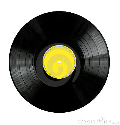 Free Vinyl Record With Yellow Label Stock Image - 3708251