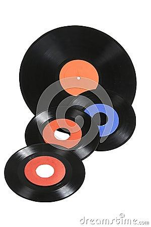 Free Vinyl Records Royalty Free Stock Photography - 1687917