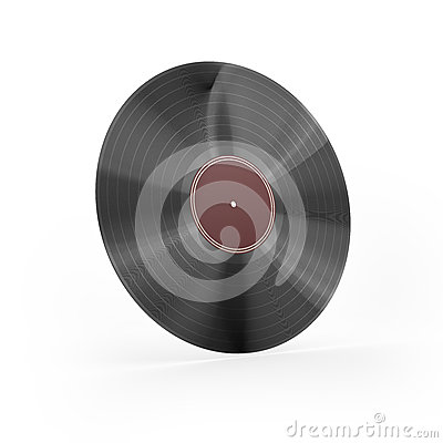 Vinyl with red label i