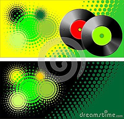 Vinyl retro style vector