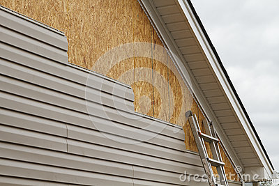 Vinyl Siding Installation On A House In The South Stock