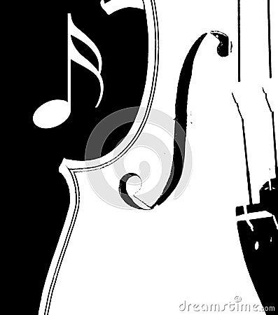 Violín blanco y negro