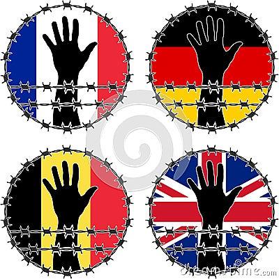 Violação dos direitos humanos em países europeus