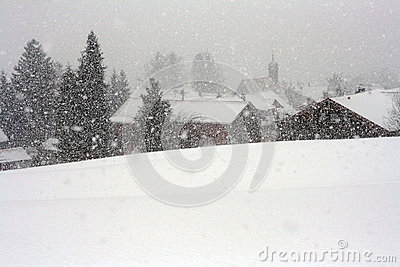 A violent blizzard in Bavaria
