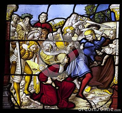 Violent religious scene