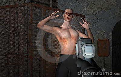 violent Video arcade zombie game