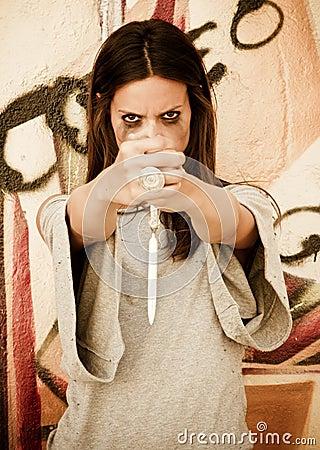 Violent woman