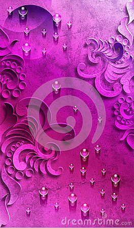 Free Violet Abstract Background With Water Drop Stock Photography - 112173582