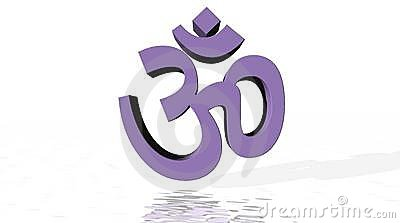 Violet aum / om with little reflect