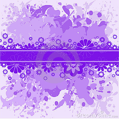 Violet background with lilac flowers