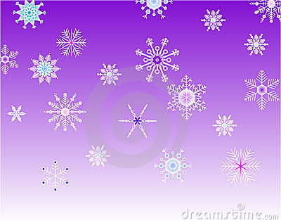 Violet background with snowflakes