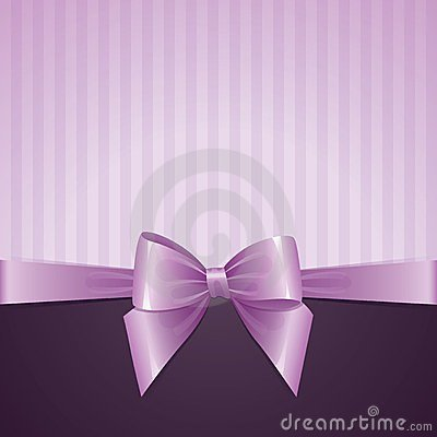 Free Violet Background With Bow Royalty Free Stock Photos - 23952838