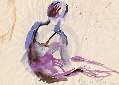 Violet ballerina, drawing