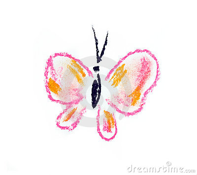 Violet butterfly simple illustration