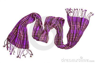 Violet checkered scarf