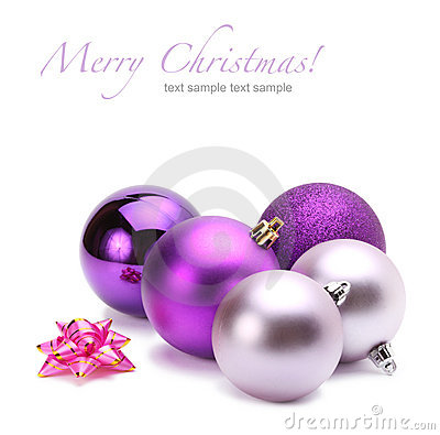 Free Violet Christmas Balls Royalty Free Stock Photography - 17271577
