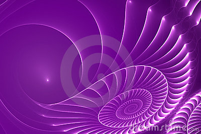Violet clam-shell abstract background
