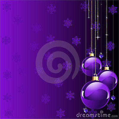 Violet colors Christmas