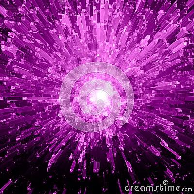 Violet Crystal Explosion