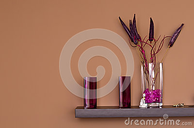 Violet decorations