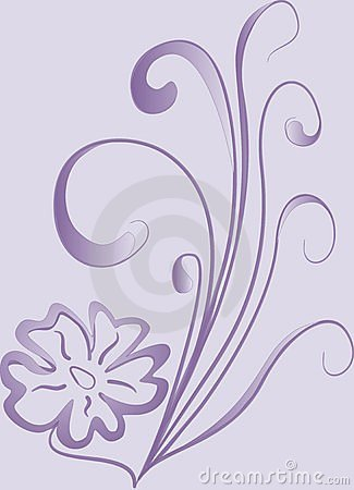 Violet design flower