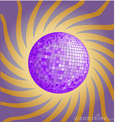 Violet disco ball