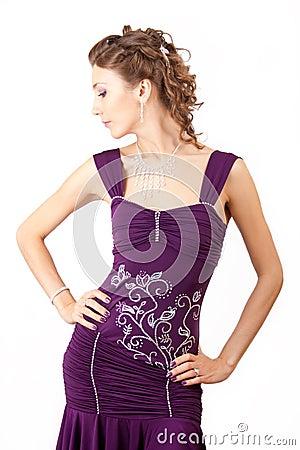 Violet dress.